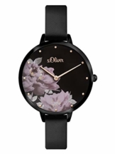 s.Oliver Damen Analog Quarz Armbanduhr mit PU Armband SO-3538-LQ - 1