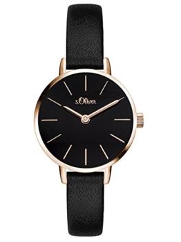 s.Oliver Damen Analog Quarz Armbanduhr mit PU Armband SO-3542-LQ - 1