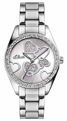 S.Oliver Damen Analog Quarz Armbanduhr SO-2857-MQ - 1