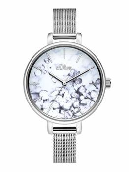s.Oliver Damen Analog Quarz Uhr mit Edelstahl Armband SO-3785-MQ - 1