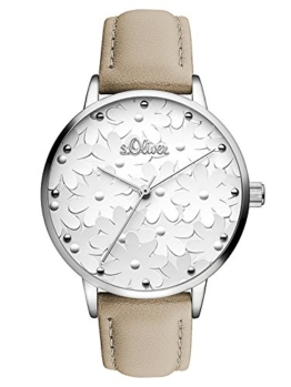 s.Oliver Damen Analog Quarz Uhr mit Leder Armband - 1