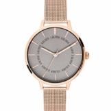s.Oliver Damen Analog Quarz Uhr mit massives Edelstahl Armband SO-3698-MQ - 1