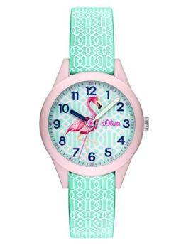 s.Oliver Damen Analog Quarz Uhr mit Silikon Armband SO-3514-PQ - 1