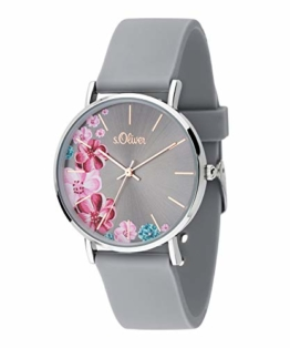 s.Oliver Damen Analog Quarz Uhr mit Silikon Armband SO-3707-PQ - 1