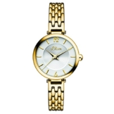 s.Oliver Damen-Armbanduhr Analog Quarz IP Gold SO-15099-MQR - 1