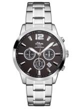 s.Oliver Herren Chronograph Quarz Uhr mit Edelstahl Armband SO-3173-MC - 1