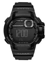 s.Oliver Herren Digital Quarz Uhr mit PU Armband SO-3495-PD - 1