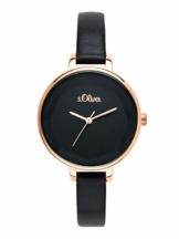 s.Oliver Time Damen Analog Quarz Uhr mit PU Armband SO-3584-LQ - 1