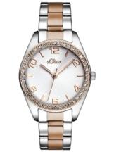 s.Oliver Time Damen Quarz Uhr mit Edelstahl Armband - 1