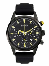 s.Oliver Time Herren Multi Zifferblatt Quarz Uhr mit Silikon Armband SO-3624-PM - 1
