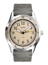 s.Oliver Unisex Erwachsene Analog Quarz Smart Watch Armbanduhr mit Leder Armband SO-3576-LQ - 1