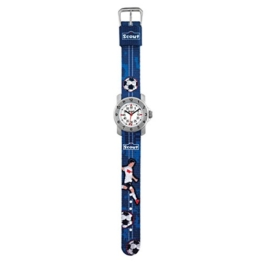 SCOUT Jungen Analog Quarz Uhr mit Stoff Armband 280376004 - 1