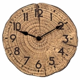 Smart Garden Tree-Time Wanduhr, Holzoptik, für Innen und Außen, witterungsbeständig - 1
