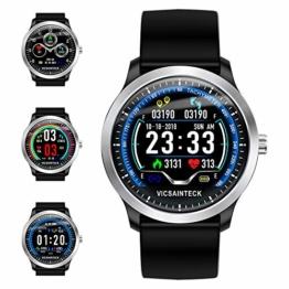 Smartwatch, Fitness Armband Sportuhr Smart Watch Mit Pulsmesser Schlafmonitor Schrittzähler Armbanduhr mit iOS Android für Kinder Damen Herren zum Laufen, Wandern und Klettern - 1