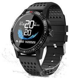 Smartwatch Fitness Uhr,blutdruck uhr mit Pulsuhren IP67 Wasserdicht Sport Uhr Aktivitätstracker Fitness Uhr Schlafmonitor schrittzähler Smartwatch Damen Herren Smart watch,Fitness Uhr für iOS Android - 1