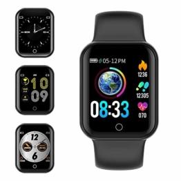 Smartwatch, KUNGIX Fitness Armband Uhr mit Blutdruckmessung IP68 Wasserdicht Smart Watch Mit Pulsmesser Schlafmonitor Schrittzähler Kalorienzähler Armbanduhr für Kinder Damen Herren - 1