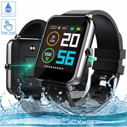 Smartwatch, Zagzog 1,54 Zoll Voller Touch Screen Bluetooth Smartwatch Wasserdicht IP68 Fitness Tracker GPS Sportuhr Armband Pulsuhren Schrittzähler Herren Damen Smartwatch Kompatibel für IOS Android - 1