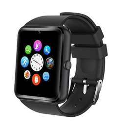 Smartwatch,Willful Smart Watch Sport Uhr Smart Uhr Fitness Tracker mit Schrittzähler Schlafanalyse 1.54 Zoll Touchscreen,Kamera,SMS Facebook Vibration Kompatible Android Handy für Herren Damen - 1