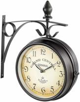 St. Leonhard Bahnhofuhr: Doppelseitige Bahnhofsuhr im Retro-Design (Doppelseitige Uhr) - 1