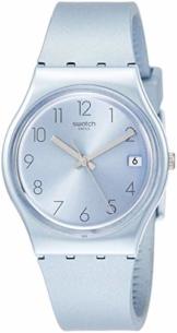 Swatch Damen Analog Quarz Uhr mit Silikon Armband GL401 - 1