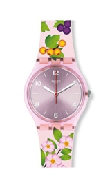 Swatch Damen Analog Quarz Uhr mit Silikon Armband GP150 - 1