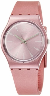 Swatch Damen Analog Quarz Uhr mit Silikon Armband GP154 - 1