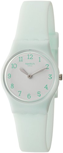 Swatch Damen Analog Quarz Uhr mit Silikon Armband LG129 - 1