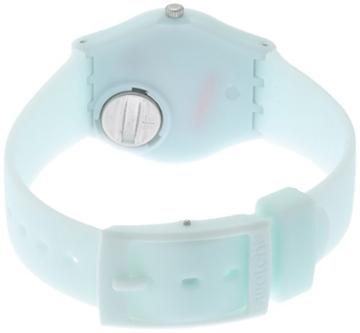 Swatch Damen Analog Quarz Uhr mit Silikon Armband LG129 - 2