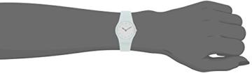 Swatch Damen Analog Quarz Uhr mit Silikon Armband LG129 - 4