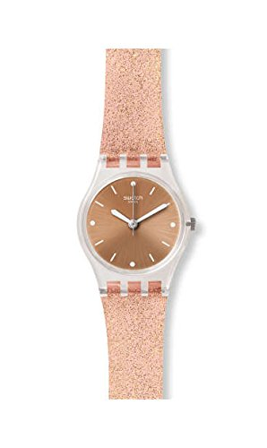 Swatch Damen Analog Quarz Uhr mit Silikon Armband LK354D - 1
