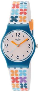Swatch Damen Analog Quarz Uhr mit Silikon Armband LN151 - 1