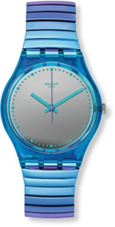 Swatch Damen Digital Quarz Uhr mit Edelstahl Armband GL117B - 1