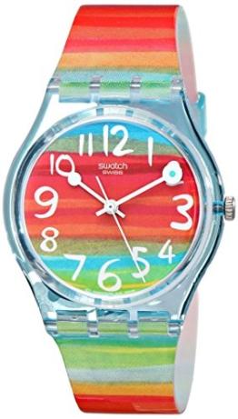 Swatch Damenuhr Analog Quarz mit Plastikarmband - GS 124 - 1