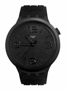 Swatch Herren Analog Quarz Uhr mit Silikon Armband SO27B100 - 1