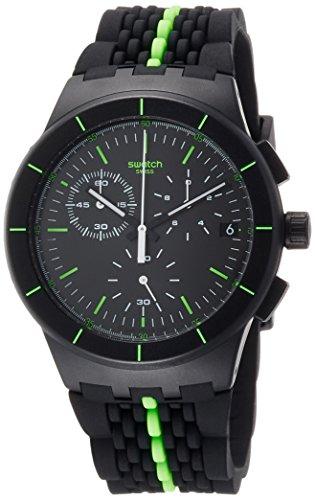 Swatch Herren Digital Quarz Uhr mit Silikon Armband SUSB409 - 1