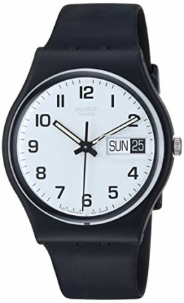 Swatch Herrenuhr Analog Quarz mit Plastikarmband - GB 743 - 1