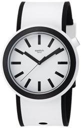 Swatch Unisex Analog Quarz Uhr mit Silikon Armband PNW100 - 1