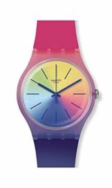 Swatch Unisex Erwachsene Analog Quarz Uhr mit Silikon Armband SUOK143 - 1