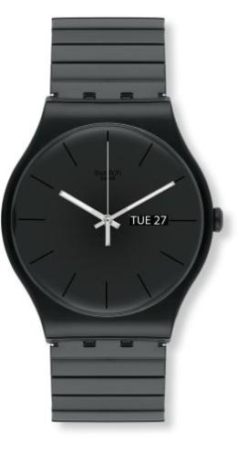 Swatch Unisex Erwachsene Digital Quarz Uhr mit Plastik Armband SUOB708A - 1