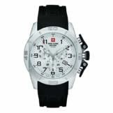 Swiss Alpine Military Herren Uhr Chrono 7063.9833SAM Silikon - 1