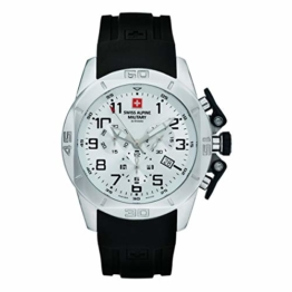 Swiss Alpine Military Herren Uhr Chrono 7063.9833SAM Silikon - 1
