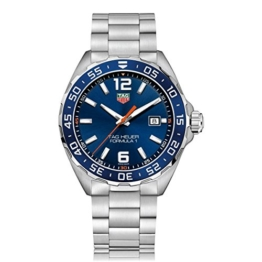 TAG Heuer Herren Analog Quarz Uhr mit Edelstahl Armband WAZ1010.BA0842 - 1