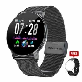 TagoBee TB11 IP68 Waterproof SmartWatch Fitness Tracker Benachrichtigungen Anruferinnerung kompatibel mit Android und IOS(Schwarzes) - 1