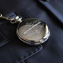 Taschenuhr mit Gravur Bester Trauzeuge | Farbe Silber - 1