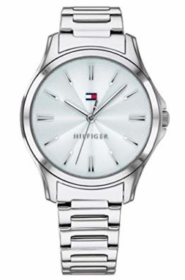 Tommy Hilfiger Damen Analog Quarz Uhr mit Edelstahl Armband 1781949 - 1