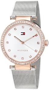 Tommy Hilfiger Damen Datum klassisch Quarz Uhr mit Edelstahl Armband 1781863 - 1
