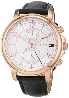 Tommy Hilfiger Damen Multi Zifferblatt Quarz Uhr mit Leder Armband 1781817 - 1