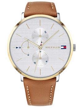 Tommy Hilfiger Damen Multi Zifferblatt Quarz Uhr mit Leder Armband 1781947 - 1