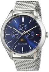 Tommy Hilfiger Herren Analog Quarz Uhr mit Edelstahl Armband 1791302 - 1