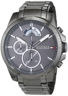 Tommy Hilfiger Herren Analog Quarz Uhr mit Edelstahl beschichtet Armband 1791347 - 1